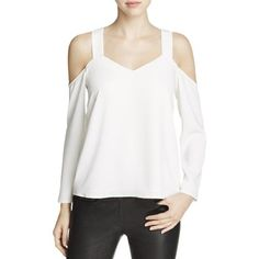 34820609575674 Cooper   Ella Womens V-Neck Cold Shoulder Casual Top