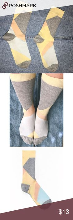 Pastel Jacquard sock. Brand: & other stories Gorgeous jacquard socks from the European boutique clothing line, & other stories. Pristine condition, these statement socks zest up any outfit. Soft socks, great for ankle boots, sneakers, heels or sandals! & other stories Accessories Hosiery & Socks