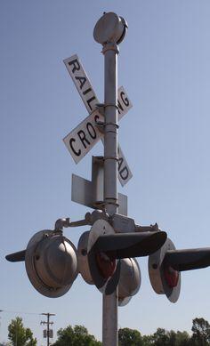 railroad crossing in Ovid Colorado.