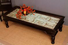 Reclaimed door as a coffee table. Love this idea.