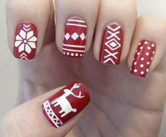 Cute Christmas Nail Art Design Ideas Collection