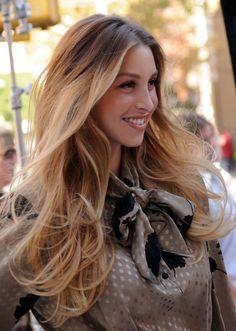 Whitney Port Ombre Hair Golden