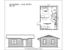 16'x22' one bedroom, one bath cottage (352 SF)