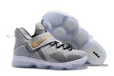 7805c6a81e 2020 Buy Now Nike LeBron 14(XIV) Opening Night Wolf Grey Metallic Gold. Nike  Shoes ...