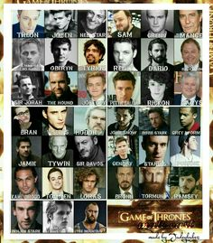 The male actors of GAME OF THRONES   in real life Edit by Jadeybabez