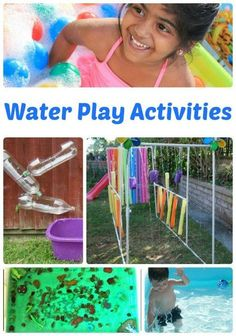 Bring on the heat! We're getting ready to celebrate the temperatures of summer with some water play activities for kids. | The Jenny Evolution