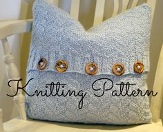 Knitting Pattern - Beatrice Mock Cable Aran Cushion Cover - Instant Download