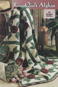 Rose Quilt Afghan Crochet Pattern