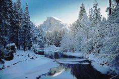 Yosemite Valley in winter.