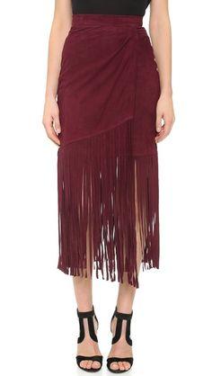 How do you feel about...FRINGE? Tamara Mellon Suede Fringe Skirt