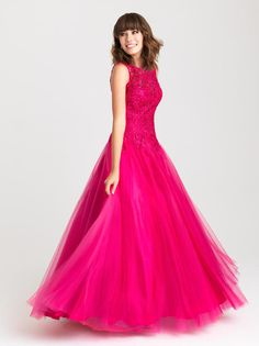 || Pure Couture Prom || Dress / Gown. Madison James Prom. prom 2016. prom dress shopping. Madison James designs. prom styling. get ready for prom. long, magenta/bright pink prom dress.