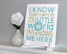Letterpress Typography Art Print  My Own Little by sweetharvey