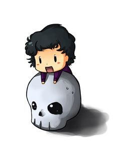 Sherlock. by *DarthTanuki on deviantART // skull.