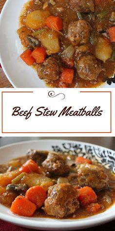 Beef stew when you don't have the time – beef stew meatballs. Ground beef me… Beef stew when you don't have the time – beef stew meatballs. Ground beef meatballs in a hearty beef stew stock with carrots and potatoes. Beef Stew Crockpot Easy, Hearty Beef Stew, Beef Stews, Meat Recipes, Slow Cooker Recipes, Cooking Recipes, Crockpot Recipes, Recipies, Ground Beef Meatballs