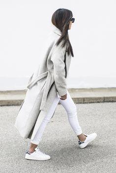 fashion-landscape.com | Cos Grey Coat, Adidas Stan Smith Sneakers, Danielle Foster London Bag