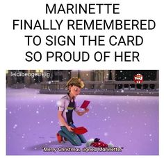 MLB Christmas special adrien marinette signed card -Marinette finally remembered to sign the card, so proud of her-