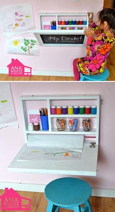 Link to image: playroom organization This is perfect for saving space/small space! Or for having 2 centers in 1 area. Link to image: playroom organization This is perfect for saving space/small space! Or for having 2 centers in 1 area. Playroom Organization, Organization Ideas, Travel Organization, Toy Rooms, Craft Rooms, Kids Rooms, Kids Storage, Storage Ideas, Art Storage