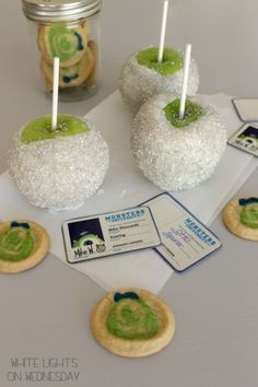 Monsters University Disco Ball Candied Apples  #MonstersU