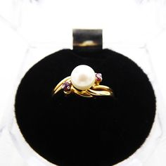 Ruby Ring Vintage, Vintage Jewelry, Real Gold Jewelry, Vintage Rings, Gold Pearl, Jewelry Supplies, Jewelry Stores, Jewelry Gifts, 1960s
