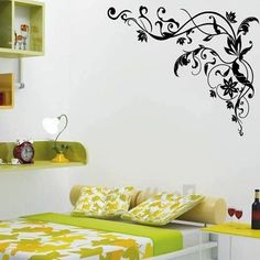 PVC Vine Black Removable Kids Room Art Mural Wall Sticker Decal
