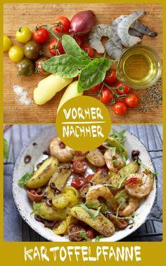 http://eatsmarter.de/rezepte/kartoffelpfanne Lecker so eine schnelle Pfanne mit Kartoffeln und Garnelen, oder?