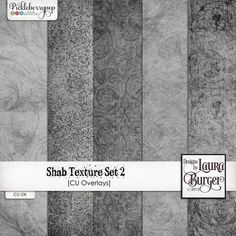 Shab Textures CU Overlays - Set 2 by Designs by Laura Burger