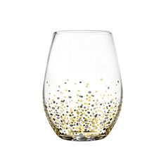 Fitz Floyd Confetti Black and Gold Stemless Glasses (Pack of 4) >>> For more information, visit image link.