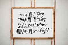 Read me a story - Home Decor - Wood Sign by OurKindredHomeLLC on Etsy https://www.etsy.com/listing/509969413/read-me-a-story-home-decor-wood-sign
