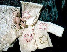 Daisy Baby Cardigan Free Knit Pattern