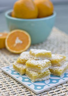 Just got done making these and just finished throwing the whole pan away! Thought they would taste kinda like a lemon bar, but I could hardly taste the orange in them and I put extra of it in. It was very sweet and you could really taste the egg.