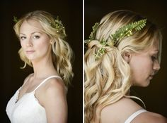 Beautiful Rustic Woodland Bridal Bride Fern Foliage Hair http://www.careysheffield.com/