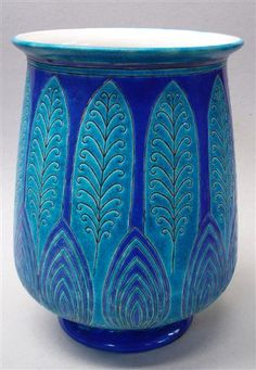 Vase Art Déco Atelier PRIMAVERA. LONGWY FRANCE.