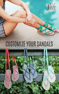 Colorful and versatile ribbon sandals, perfect for the summer! Stock up now and get three free ribbons from July 20 until July 24, 2015!