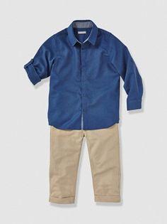 Conjunto camisa + pantalón pesquero niño