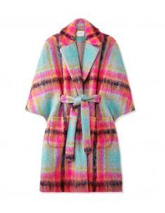Delpozo Plaid Cape Coat - dope coat! i want one!