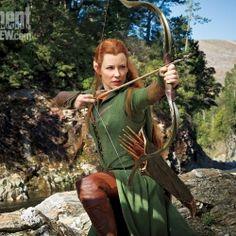 Lo Hobbit: La Desolazione di Smaug, foto ufficiale di Tauriel