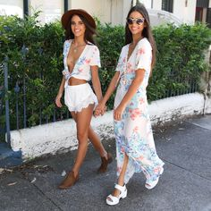 Sunday strolling with the Twins in Someday's Loving pieces from Peppermayo.com