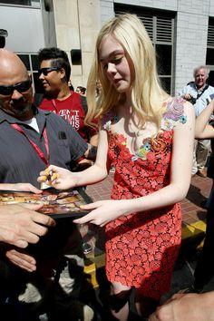 Elle Fanning – Leaving the Hard Rock Hotel in San Diego – July 2014