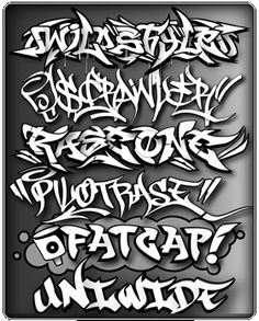 3D Graffiti Letters A-Z | 3d design graffiti alphabet letters a z black and white thanks your ...