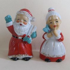 Christmas Mr. and Mrs. Claus Salt and Pepper Shakers