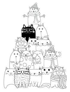 drawing to print pyramid cat coloring - Les Colos de kiki - - dessin à imprimer pyramide chat coloriage drawing to print pyramid cat coloring Cat Coloring Page, Coloring Book Pages, Splat Le Chat, Cat Colors, Cat Crafts, Cat Drawing, Digi Stamps, Doodle Art, Cat Art
