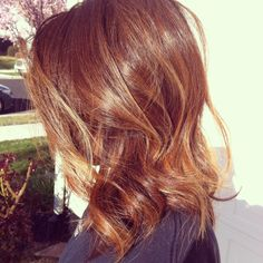 From black to beautiful Golden Brown with Blonde and Carmel Balayage highlights By Stylist Leah Villagran