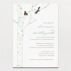 Carved Initials Wedding Invitation | Printable Press