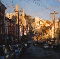 Urban Goings-on Captured in Oil Paintings. To see more art and information about Lindsey Kustusch click the image.