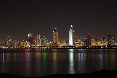 Sandiego skyline at night CLIQUE6° The New Cool... See all the new trending Videos, Photos & Blogs here first. clique6.com