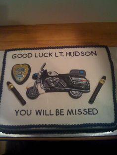 police cake....make sheriff car or badge..no cigars!
