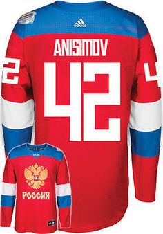 4064ef47e Men s Artemi Anisimov Team Russia Hockey adidas 2016 World Cup of Hockey  Jersey