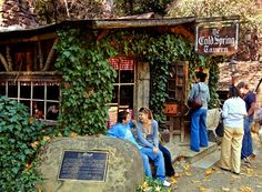 THE COLD SPRING TAVERN San Marcos Pass, Santa Barbara County    This is more than a tavern. Born as a stagecoach stop in the 1880s, the Cold Spring sits in the mountains 10 miles outside Santa Barbara on California 154. Owned by the Ovington family since 1941, the property includes an upscale restaurant