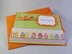 Grußkarte Ostereier von Frollein KarLa auf DaWanda.com