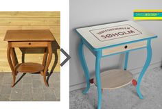 Old table, upcycling. Redesigned